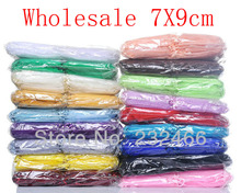 Drawable Organza Bags 7x9cm Wholesale 500pcs/lot,Wedding Gift Bags,Jewelry Packing Bags,Wedding Pouches(China)