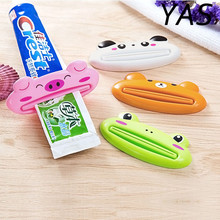 YAS Home Commodity Brand Cartoon Easy Squeezer Toothpaste Tube Dispenser Rolling Holder Cat/Frog/Panda/Pig Hot Selling
