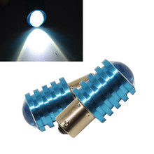 2PCS/Lot Functional 7W Q5 1156 BA15S White Car LED Light Blue Shell Auto Light Source Tail Reverse Backup Brake Lamp Bulb
