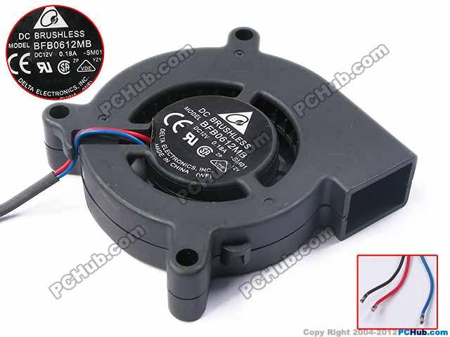 Delta BFB0612MB -SM01 DC 12V 0.18A 4-wire Server Blower Cooling fan<br>
