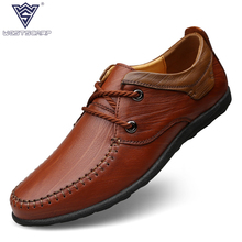 Buy Large Size 38-45 Genuine Leather Flats Men Dress Shoes 2017 Spring/Autumn Fashion Round Toe Lace-Up Casual Shoes Men for $45.68 in AliExpress store