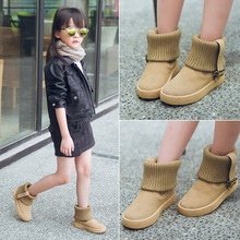 Size 26-37 100% Genuine Leather Children Shoes Kids Snow Boots Fur Winter Boys Girls Shoes Kids Shoes brand boots tx0747