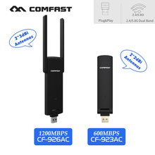 COMFAST usb wifi adapter 600-1200mbps Plug Play 2.4Ghz + 5.8Ghz Dual Band wi-fi dongle computer AC Network Card USB antenna - Shenzhen Comfast Technology Co., Ltd. store