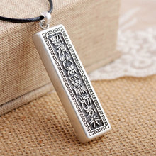FNJ 925 Silver Buddha Pendant 100% Pure S925 Solid Thai Silver Pendants for Women Men Jewelry Making(China)