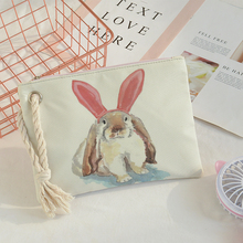 Personnalisé dames d'embrayage de main enfants sac impression animal mignon lapin plage sac designer de luxe sac à main occasionnel 26*19 cm(China)