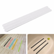 12Pcs Anti-Slip Shower Floor Sticker Bathroom Wall Accessories Safety Bath Tub Shower Strips Tape Mat Home Decor Accessories(China)