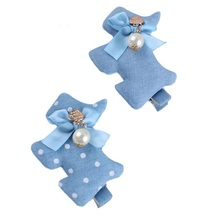 Fashion Blue Horse design girls hairclips Prints child accessories hair clip Ladies Headwear baby hare hairbands for gentlemen(China)