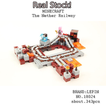NEW lepin 18024 my world series The Nether Railway model Building Blocks Compatible 21130 Classic Architecture toys for children