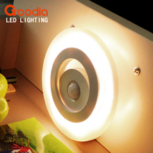 Smart Sensor Body LED Night Light Wall Light Cabinet Light Indoor LED Lamp Battery Powered(China)