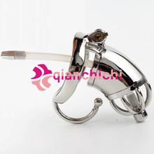 Buy Ergonomic Design Stainless Steel Male Chastity Device Cock Cage Virginity Lock Penis Lock Cock Ring Chastity Belt