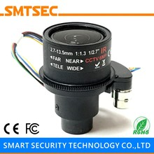 "HD 2MP Megapixels Lens 1/2.7"" 2.7-13.5mm Motorized Zoom Auto Focus F1.4 M14 Mount  CCTV Lens For IP Security Camera"