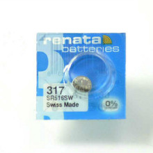 2Pcs/Lot Brand New Renata LONG LASTING 317 SR516SW SR62 D317 V317 Watch Battery Button Coin Cell Swiss Made 100% Original