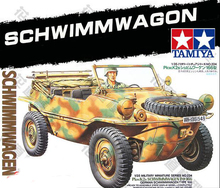 Tobyfancy Tamiya German Schwimmwagon Jeep Car Pastic Track 1/35 Military Miniature Ready to Assembly Model Kit(China)