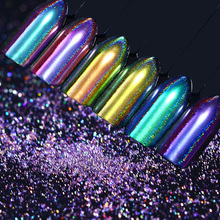 BORN PRETTY Holographic Chameleon Peacock Nail Glitter Mirror Laser Pigment Powder Holo Nail Art Chrome Glitters Nailart UV Gel(China)