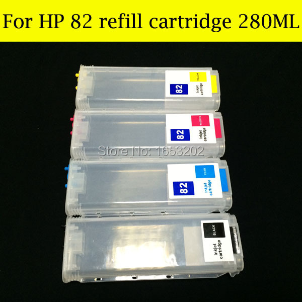 Free Shipping !! Refillable For HP 82 Inkjet Cartridge For HP82 With ARC Chip Use For HP Designjet 510<br><br>Aliexpress