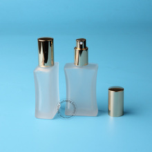 5pcs/Lot High Quality Glass 40ml Parfume Bottle Spray Women Cosmetic Container Gold Cap 40g Atomizer Pot Portable Travel(China)