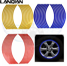 17/18 inch Wheel Stickers  Reflective Rim Stripe Tape Bike Motorcycle Car For Kawasaki z800 z750 z250 z1000 er6n er6f er 6f 6n