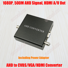 720P 1080P HD AHD to HDMI (Audio & Video) / VGA / CVBS Analog Output Signal Converter Including Power Adapter for CCTV Camera