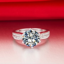 Luxury Hot Sale  Solid 750 Gold Ring 1 CT Synthetic Diamonds Ring Fine Gold Jewelry For Bridal Nice Birthday Gift