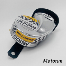Chrome Motorcycle Horn 510Hz DC12V High-Frequency, universally Fit for ATVs, Dirt Bikes, Scooters, Vespas...