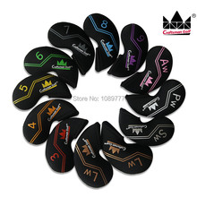 Craftsman Golf iron club headcover Ultra Light Weight colourful number 12PCS(China)