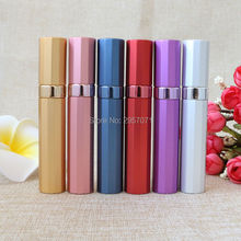 Top Quality 8ml Refillable Portable Mini Perfume Bottle Atomizer Spray & Traveler Aluminum Empty Parfum Bottle DHL 120pcs/lot(China)