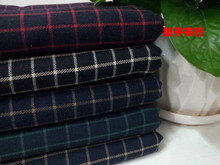 Pf29 Fall winter sanding Cotton thick Plaid fabric TR suit fabric shirt fabric retail or wholesale