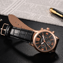 OUKESHI Boutique Roman Style Men Watch Top Brand Luxury Genuine Leather Quartz-Watch Fashion Sport Army Wristwatch Dropshipping(China)