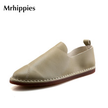MRHIPPIES 2017 Black Men Loafers Moccasins Casual Men Shoes Man Fashion Suede Leather Slip On Men's Flats Driving Shoes