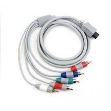 1.8m 6FT HDTV Component AV Audio Video Cable 5RCA Cord Adapter for Nintendo Wii Game Console Composite Wire