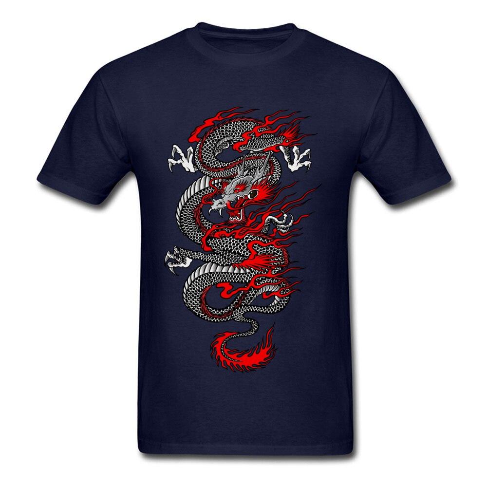 Asian Dragon 100% Cotton Tops T Shirt for Men Printed T-shirts Summer New Coming O-Neck T Shirt Short Sleeve Free Shipping Asian Dragon navy