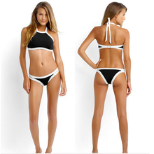 European and American style hot spring swimming beach resort party volleyball swimsuit women solid color triangle sexy bikini se(China)