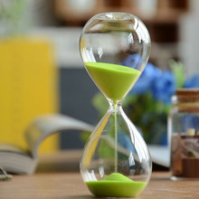 15 Minutes Transparent Glass Sand Timer Clock Hourglass Sandglass Home Decor Wedding Decoration Accessories Lovely Gifts Crafts