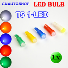 1 x T5 1 SMD LED Bulb Ceramic Dashboard Gauge Instrument Auto Light Car Lamp DC12V White / Green / Yellow / Blue / Red Color