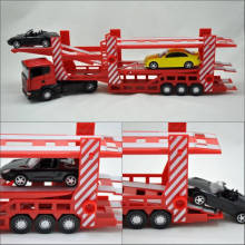 1:43 Truck with small cars Joy city. 42Cm length, Open doors ,Die cast trucks Free Shipping 2519-02,2519-03