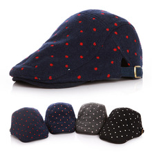 Autumn Dot Baby Girls Cap Adjustable Infant Baby Beret Hat Accessories for 2-5 Years 1 PC