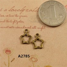 10MM Vintage Copper small metal star charms and pendants series mobile phone DIY jewelry accessories wholesale Beaded material