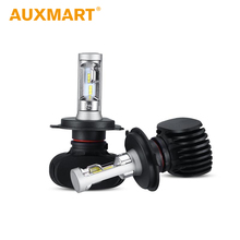 Auxmart Car Headlight Kit LED H4 H7 H11 H13 HB3 9005 HB4 9006 50W 8000lm CSP LED Chips Bulb Auto Head Lamp For Toyota Honda VW