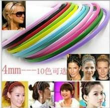2017 Limited New Solid Adult Headbands Novelty Wholesale 10pcs 4mm Plastic Teeth Lady Girl Headband Hairband Hair Accessories