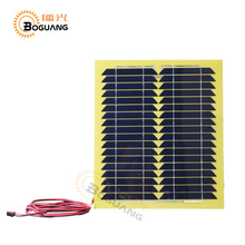 Boguang 1pcs 15w Monocrystalline silicon solar panel cell module back of junction box cable for light LED car boat 12v battery(China)
