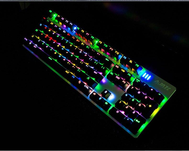 104 Keys Ajazz Wired RGB LED Backlit Multimedia USB Mechanical Gaming Keyboard Gamer illuminated Ergonomic For Laptop Computer