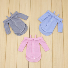 Buy Free shipping blyth doll icy licca long shirt pink grey blue sexy outfit clothes gift toy 1/6 30cm
