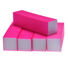 Best Sale 5pcs Women's Nail Art Buffer File Block Pedicure Manicure Buffing Sanding Polish Rose Red