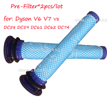 2*Filters Replaces for dyson v6 v7 v8 dc62 DC61 DC58 DC59 DC74 Vacuum Cleaner Filter Part # 965661-01 Fette Filter