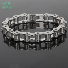 Punk 316L Stainless Steel Bracelet Silver Tone Biker Bicycle Motorcycle Chain For Mens Bracelets & Bangles Fashion Jewelry