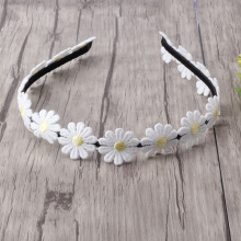 New Designer Small chrysanthemum Hair Band for Girls Headband Hair Accessories Princess Dress Flower Hair band White Daisy(China)