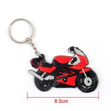 Sale Motorcycle Model Cool Keyring Keychain Key Chain Pendant Rubber For Honda RR