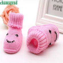 CHAMSGEND baby shoes moccasins cute winter autumn new Toddler Baby Knitting Lace Crochet Shoes Buckle Handcraft Shoes S35