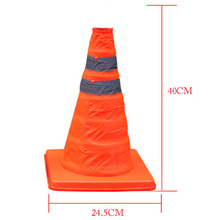 Folding Collapsible Orange Road Safety Cone Traffic Pop Up Parking Multi Purpose 2 REeflective Stripe(China)