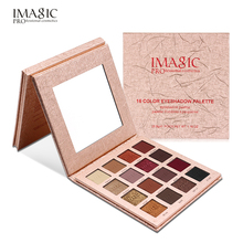 Brand Shimmer Matte Eyeshadow Palette Makeup IMAGIC Natural Waterproof Nude Color Pigments Glitter Minerals Eye Shadow Cosmetics(China)
